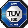 Logo des TÜV Süd für die Zertifizierung nach AZWV und ISO 9001